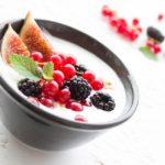 A bowl of yoghurt